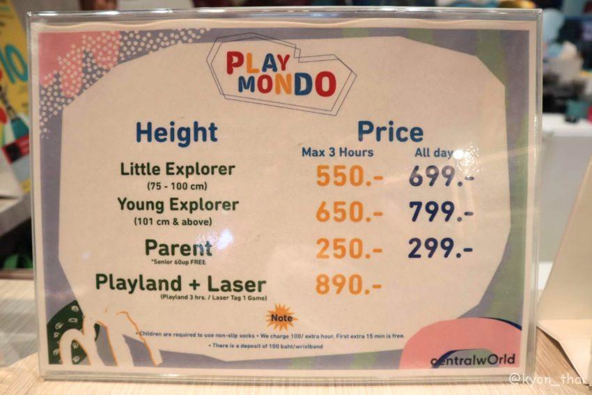 Playmondoの料金