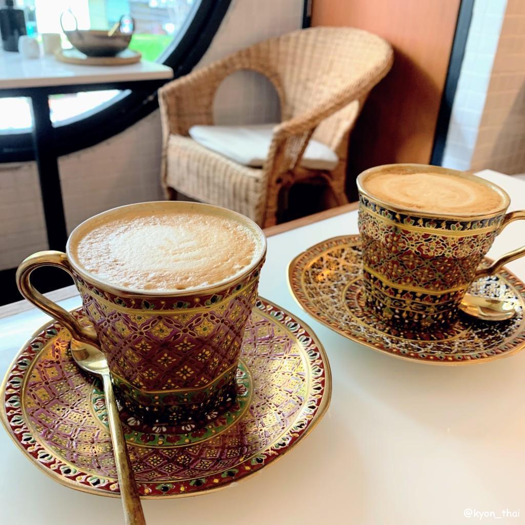 Onedee Cafeベンジャロン焼きのコーヒー