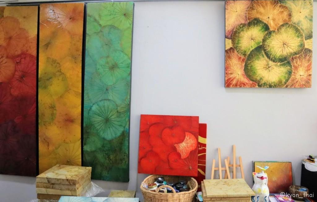 蓮の葉アート作品例