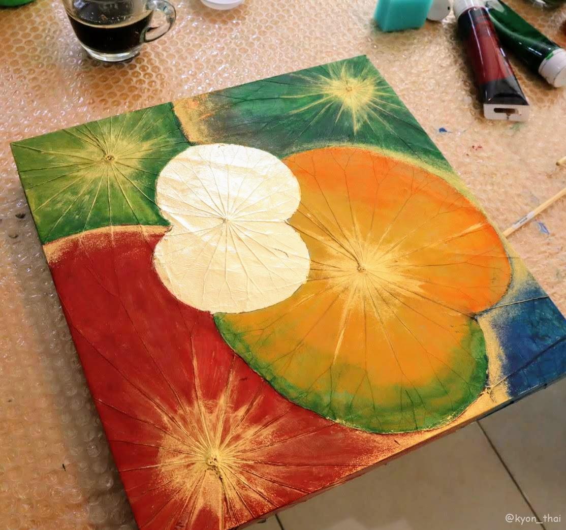 蓮の葉アート作品