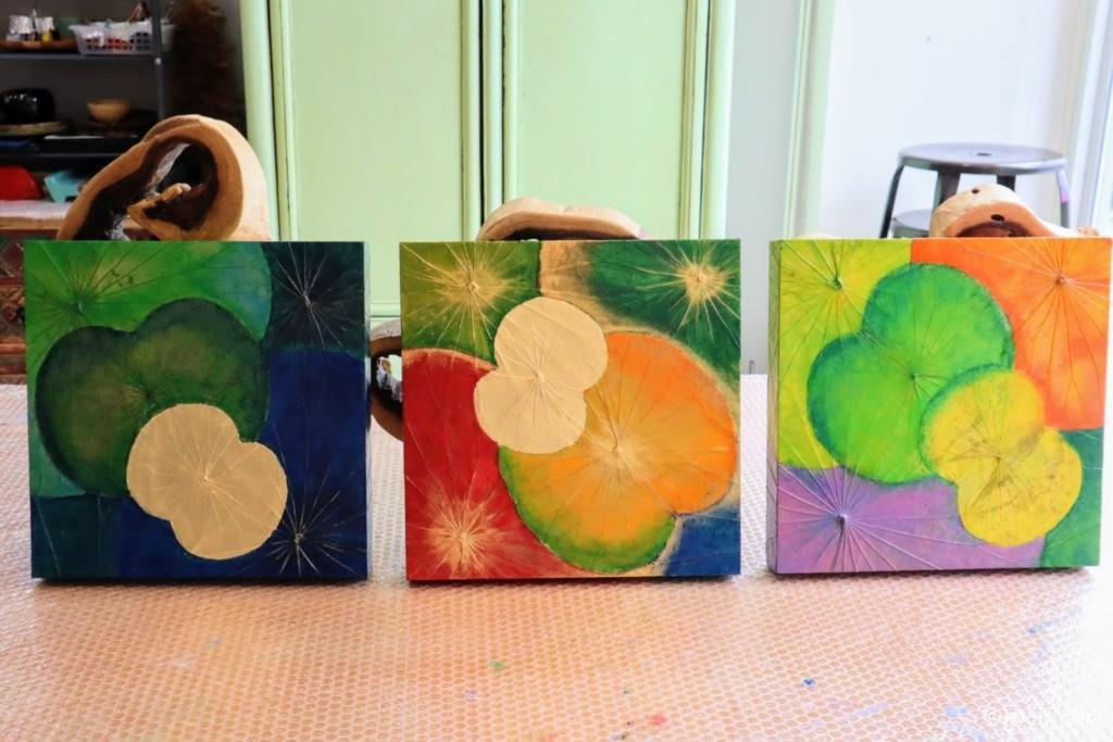 蓮の葉アートの作品例