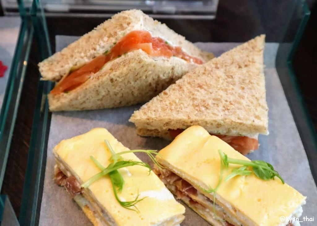 ルメリディアンバンコク アフタヌーンティのサンドイッチ