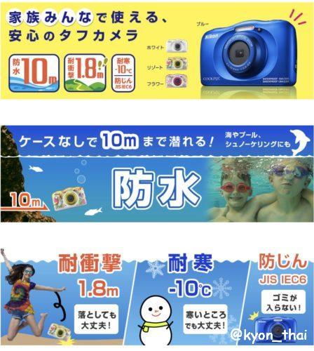 Nikon COOLPIXW150 機能説明